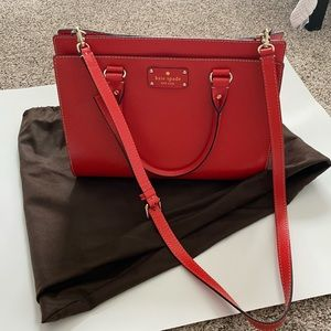 BEAUTIFUL red Kate Space bag